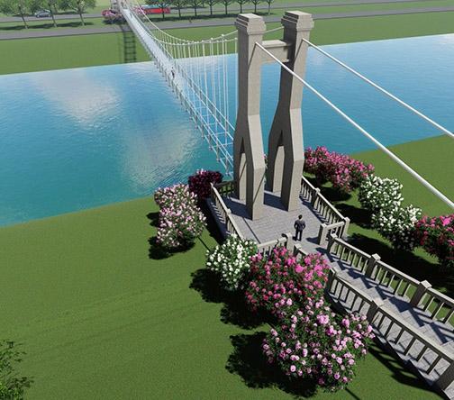 网红玻璃吊桥