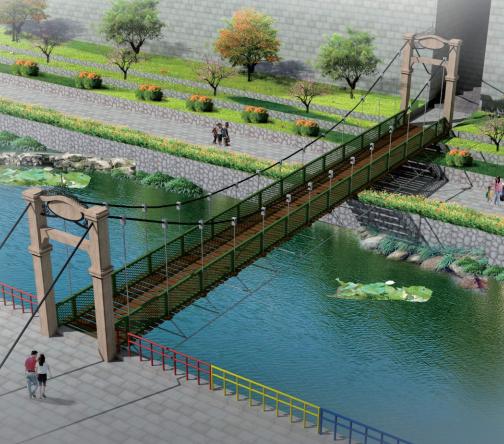 小型木质吊桥