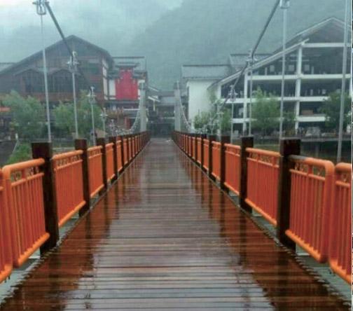 张家界武陵源溪布街吊桥项目